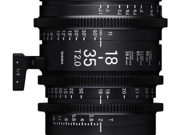 Sigma Cinema Zoom 18-35 T2 with EF mount & case