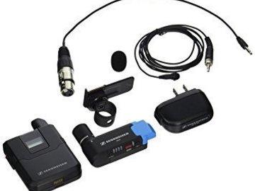 Rent: 2 x Sennheiser AVX Camera-Mountable Lavalier (MKE2 Lavalier)
