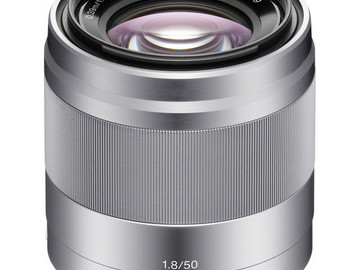 Rent: Sony E 50mm f/1.8 OSS Lens (Silver)