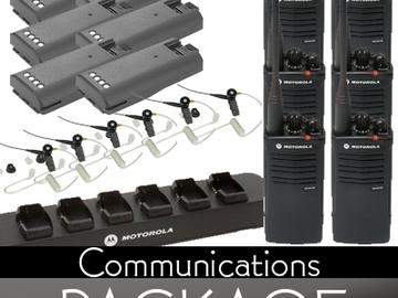 Rent: (18) Motorola Walkie-Talkie Communications Package