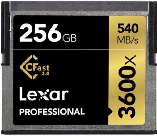 Lexar 3600x CFast Cards 256gb x 2 Alexa, Ursa