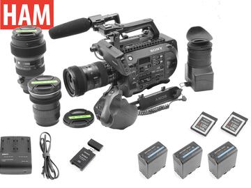 Sony PXW-FS7 | 3 lens SIGMA ART 1.8 | 4x 128GB | 4xBatteries