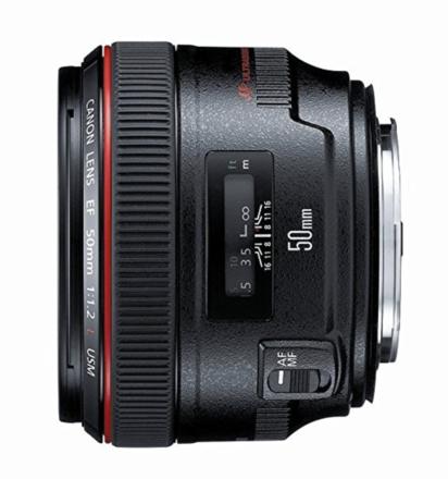 Canon EF 50mm f/1.2 L USM + Variable ND filter