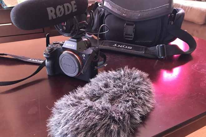 Sony Alpha a7S II Camera w/ Rode VideoMic Pro