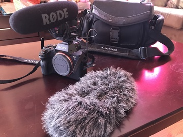 Sony Alpha a7S II Camera w/ Rode VideoMic Pro