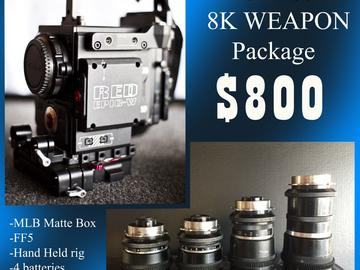 Rent: RED W Helium 8K S35, full set kowas 40,50,75,100 and AKS