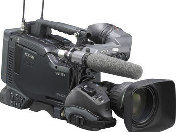 "Rent: Sony PDW-F800 XDCAM HD422 2/3"" 3CCD Camera"