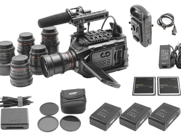 Rent: Blackmagic Ursa Mini 4.6K EF (6) Rokinon Lenses (2) 256GB