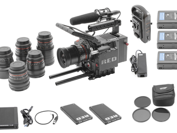 RED Scarlet MX 4K | 6-Rokinon Cine-DS Lens Set | 2x 128GB
