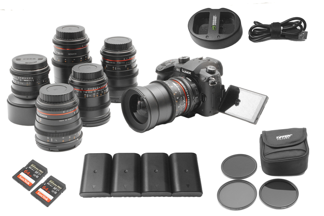 Panasonic Lumix GH5 V-Log | 6-Lens Rokinon Cine-DS Lens Set
