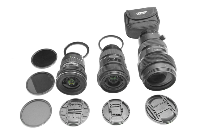 Canon EF Set #2 | Sigma 18-35 | 50-100 | Tokina 11-16 | ND