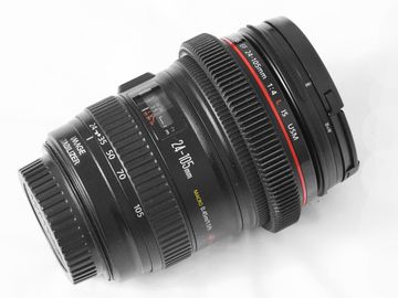 Rent: Canon EF 24-105mm f/4L IS USM Lens with Follow Focus Gear