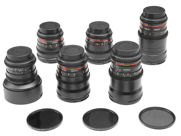 Rent: Canon EF Set | 6-Rokinon Cine-DS 14, 24, 35, 50, 85, 135