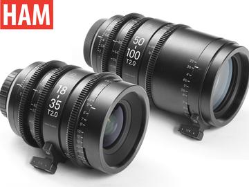 (Canon EF) Sigma 18-35mm Cine T2, Sigma 50-100mm