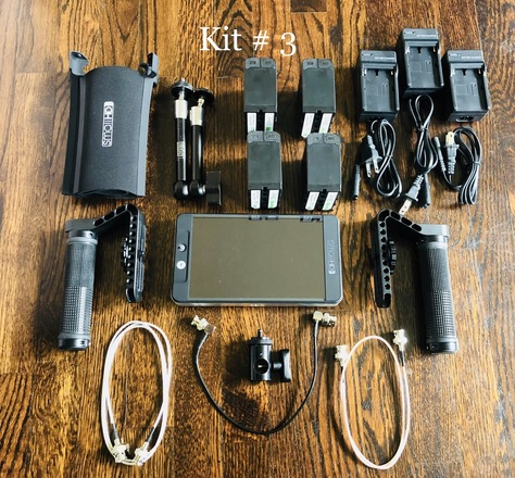 SmallHD 702 Bright kit #3 (Batteries and Cage)