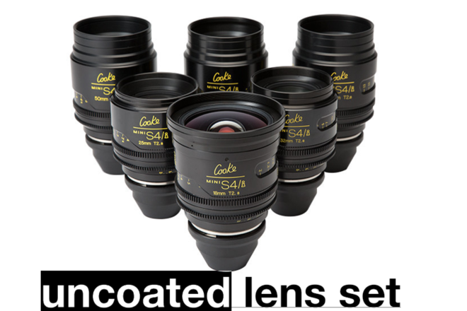 Cooke Mini S4i T/2.8 6-set Uncoated Lens Set