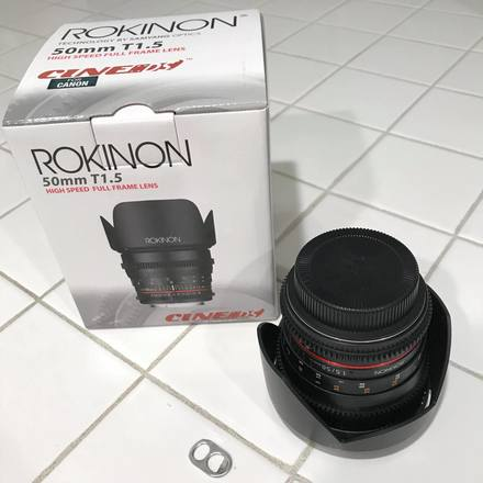 Rokinon Cine DS 50mm T1.5