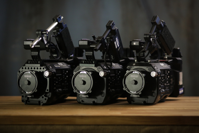 3x - Sony FS7 - Three Pack - Tripods, Lenses, Accessories