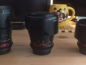 Rokinon T1.5 Cine Lens - 35, 85 and Canon 50mm - EF Mount