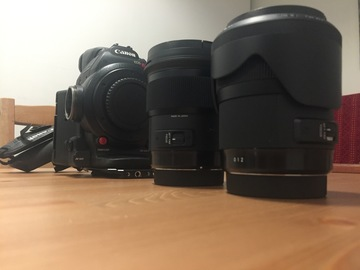 Rent: Canon C100 Mark II + SIGMA ART Lenses Prime