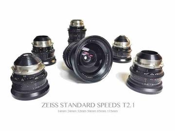 Rent: 6 lens Zeiss Standard Speed T2.1 set (Coated)