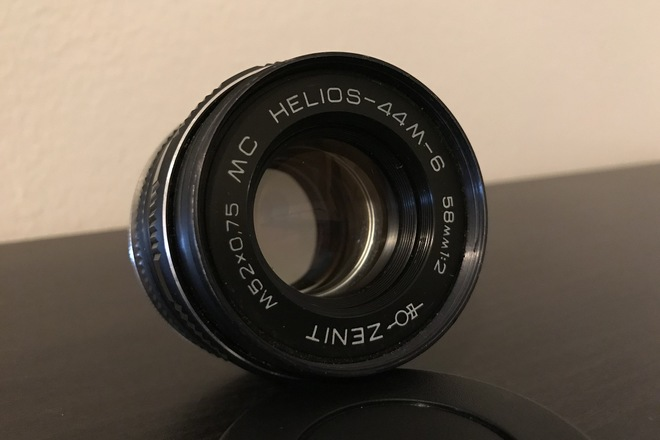 Helios 44M-6 58mm f/2 Vintage M42 Lens w/ Canon EF Adapter