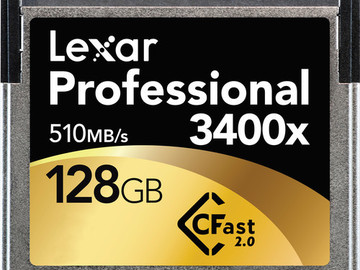 Rent: 6 Pack, 128GB CFfast2.0 Cards + Pelican Case