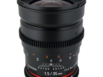 Rent: Rokinon Cine 35mm T1.5