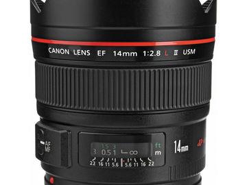 Rent: CANON LENS | EF 14MM F/2.8L II USM | KIT