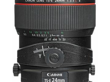 Rent: CANON LENS | TS-E 24MM F/3.5L II | MANUAL FOCUS | KIT