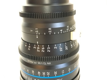 Rent: Schneider Xenon FF 35mm T2.1 Lens with Canon EF Mount