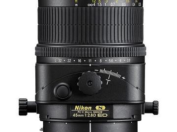 Rent: NIKON LENS | 45MM PC-E MICRO F/2.8D ED | KIT