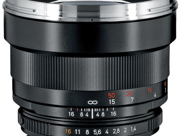 Rent: Zeiss Lens ZF.2 85mm f/1.4 T* Planar Lens F Mount