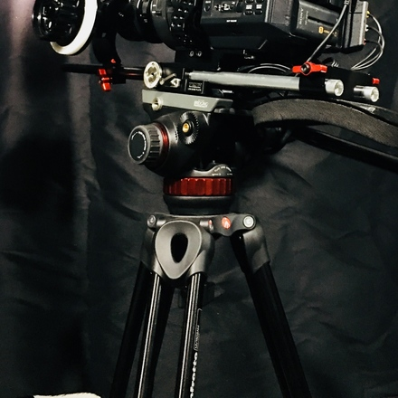 Manfrotto MVT502AM Pro Video Head and Tripod