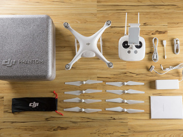 Rent: DJI Phantom 4 Quadcopter Package + Extra Battery