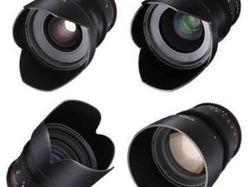 Rent: Rokinon 24, 35, 50, 85mm T1.5 CINE DS Lens Kit for Canon EF