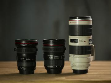 Rent: Canon L Series: 16-35 f2.8, 24-70 II f2.8, 70-200 IS f2.8