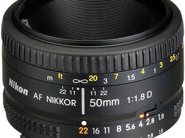 Rent: Nikon 50mm f1.8 AF Lens with 3 Filter Set