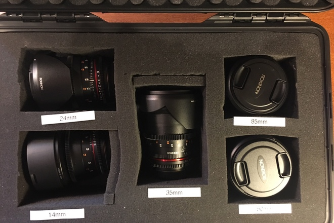 Rokinon Cine DS  4 Lens Set - 24, 35, 50, 85 - EF mount