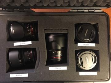 Rent: Rokinon Cine DS  5 Lens Set - 14, 24, 35, 50, 85 - EF mount