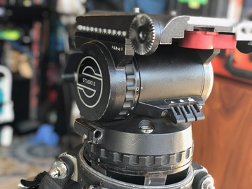 Rent: Sachtler Studio II 7+7 Fluid Head with Ronford Baker Legs