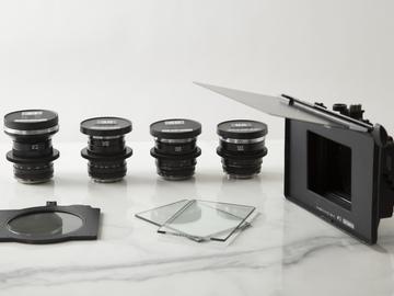 Zeiss Cine-Mod Distagon 4 lens Set LMB Matte Box Filters