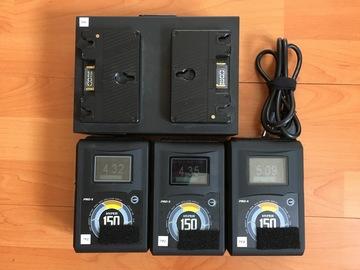 (3) Core SWX Hypercore 150wh Gold Mount Batteries Kit