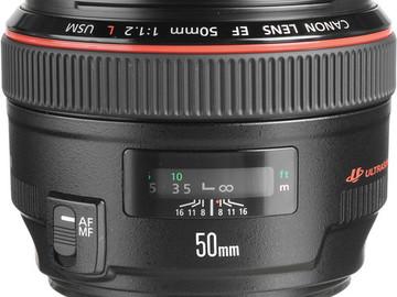 Rent: Canon 50mm f/1.2 L