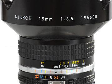 Rent: Nikkor - 15mm f3.5 AIS Prime Lens