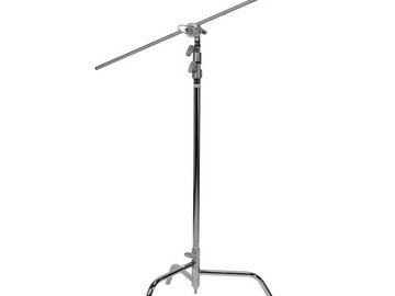 "Rent: Matthews 40"" C-stand w/ Turtle Base and Arm (2 available)"