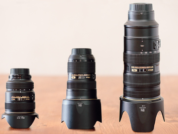 Rent: Nikon D750 + 3 PRO lenses: 17-35mm, 24-70mm, 70