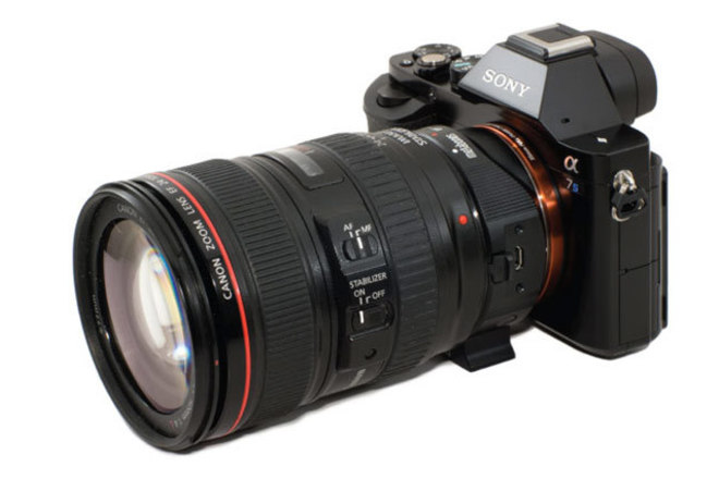 Sony a7S II + EF Adapter + Canon 24-105mm lens