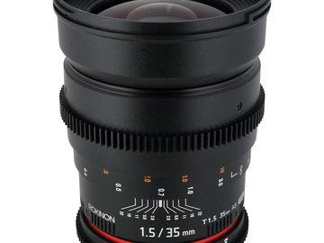 Rent: Rokinon Cine 35mm T1.5 for Canon