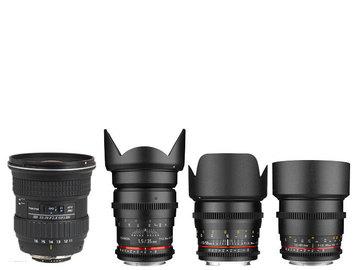 Rent: ROKINON DS CINE 35mm,50mm,85mm + TOKINA 11-16 EF MOUNT